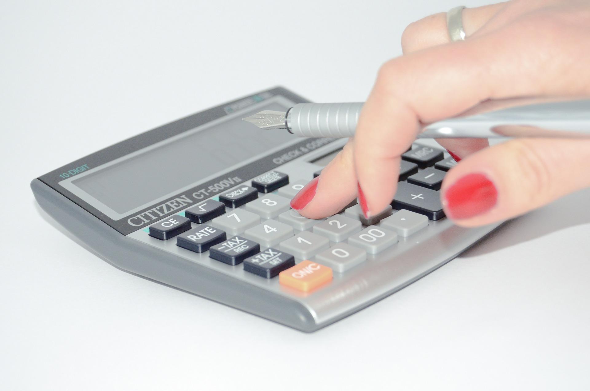 電卓で計算する手