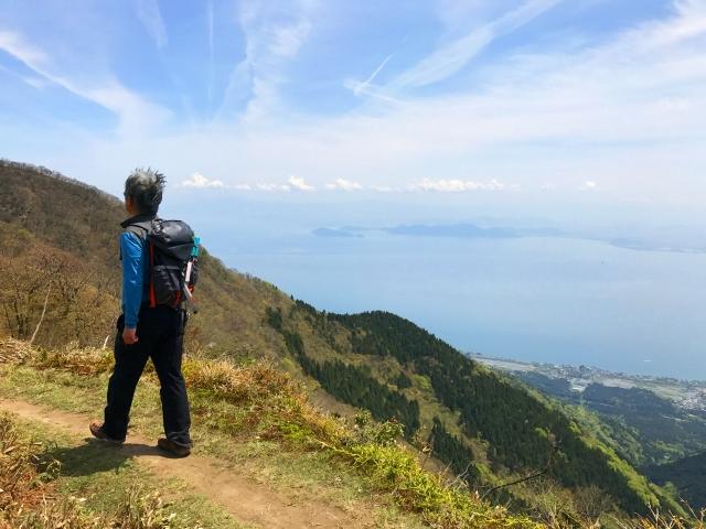 男性の登山