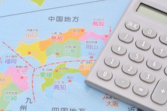 日本地図 電卓